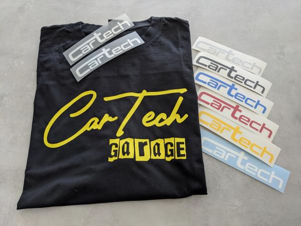 CarTech Bundle T-Shirt Gelb + Sticker