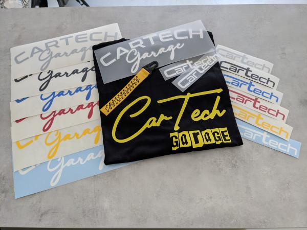 CarTech Mega Bundle T-Shirt Gelb + WSS-Banner + Sticker + Schlüsselanhänger