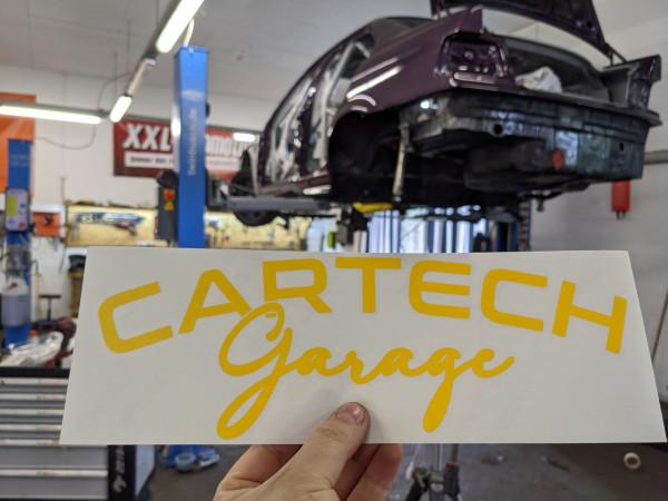 CarTech WSS Banner 30x10cm Gelb