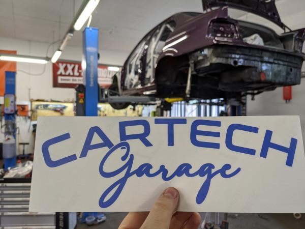 CarTech WSS Banner 30x10cm Blau