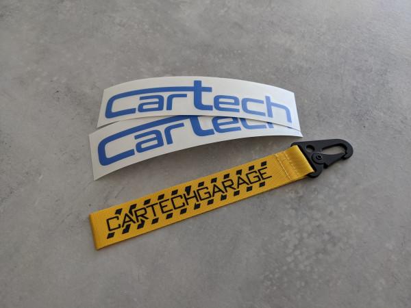 CarTech Bundle 2x Blaue Sticker + Schlüsselanhänger