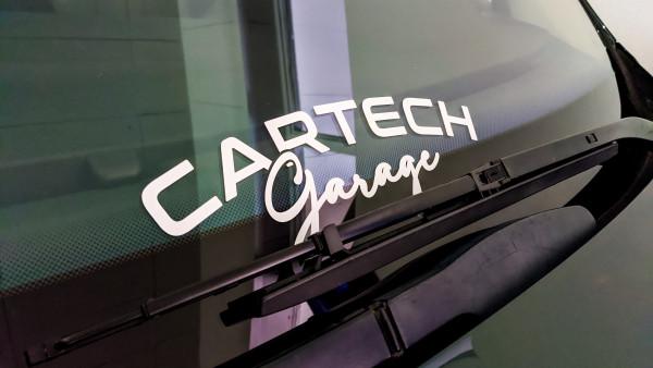 CarTech WSS Banner 30x10cm Weiß