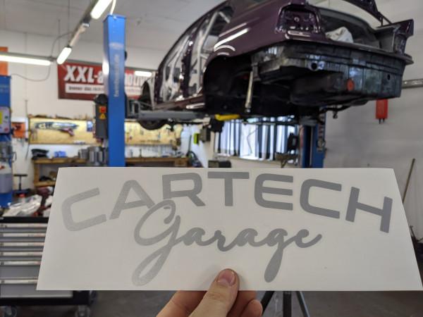 CarTech WSS Banner 30x10cm Silber